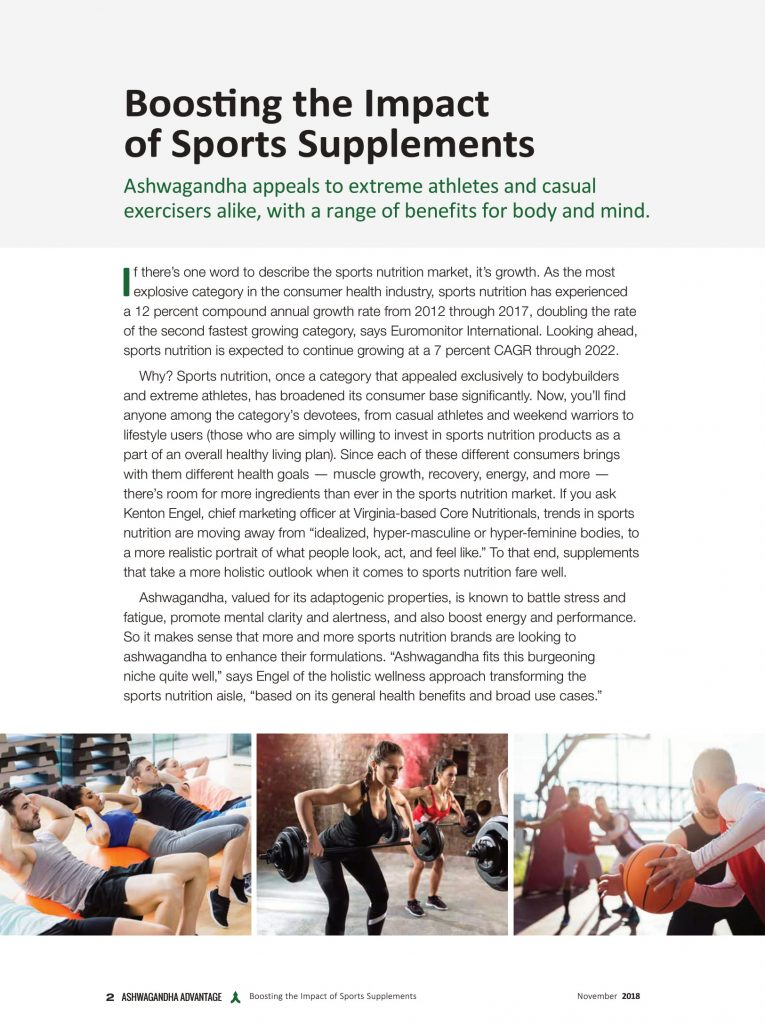 Boosting the Impact of Sports Supplements